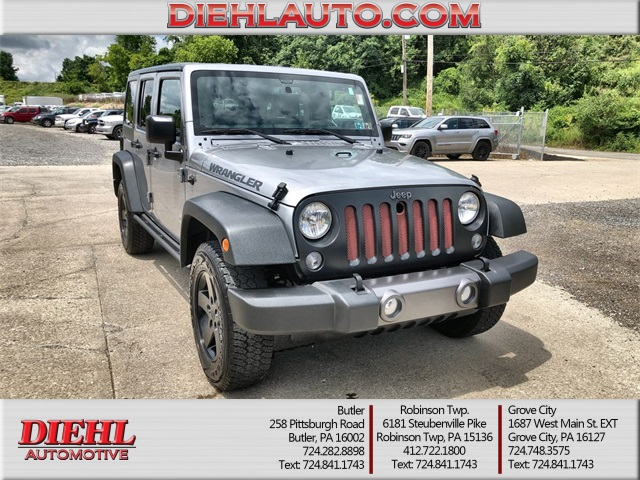 Pre-Owned 2016 Jeep Wrangler Unlimited Sport